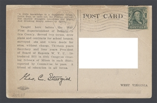 George Cookman Sturgiss Postcard