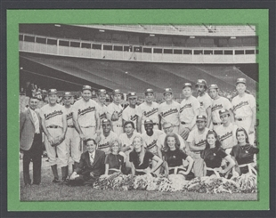 Democratic Team Baseball Card