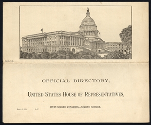 Official Directory, United State House of Representatives