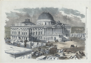 Present State of the Capitol at Washington