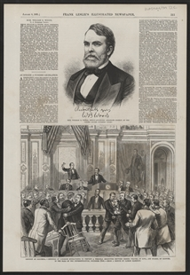 District of Columbia - Members of Congress Endeavoring to Prevent a Personal Encounter Between Messrs. Weaver, of Iowa, and Sparks, of Illinois, in the Hall of Representatives