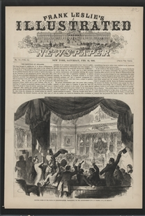 Exciting Scene in the House of Representatives, Washington, on the Announcement of N.P. Banks, As Speaker