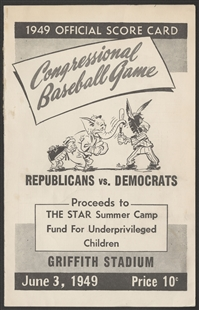 Congressional Baseball Game Scorecard