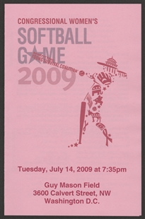 Congressional Women's 2009 Softball Game Program