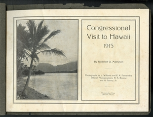 A Souvenir of the Trip of the Congressional Party to Hawaii in 1915 Booklet