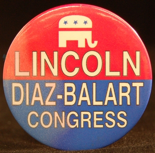 Lincoln Diaz-Balart Lapel Pin