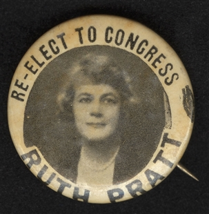 Ruth Sears Baker Pratt Lapel Pin