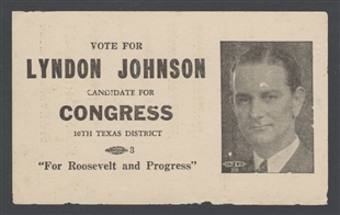 Lyndon Baines Johnson Palm Card