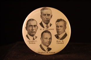 Martin Leonard Sweeney, Robert Crosser, Stephen Marvin Young, and Chester Castle Bolton Lapel Pin