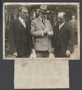 President Coolidge Autographs Baseball