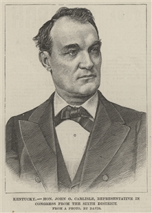 Kentucky - Hon. John G. Carlisle, Representative in Congress from the Sixth District