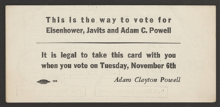 Adam Clayton Powell Jr. Palm Card