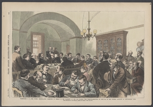Washington, D.C. - The Potter Investigation Committee in Session in the Basement of the Old Capitol