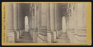 The Capitol at Washington - Colonade, in Front of Senate Chamber Stereoview