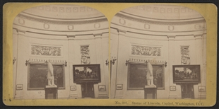 Statue of Lincoln Stereoview