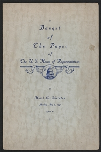 Banquet of the Pages of the U.S. House of Representatives Program