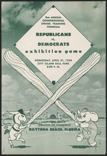 Congressional Baseball Exhibition Game Program