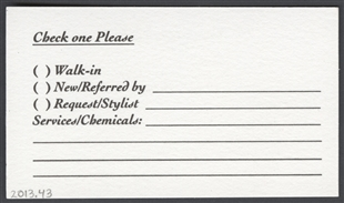 "The ""Capital Styles"" Salon Appointment Card"