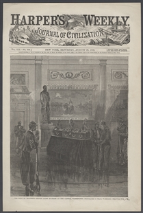 The Body of Thaddeus Stevens Lying in State at the Capitol, Washington