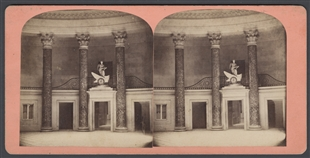 National Clock, in the Old House of Representatives, U.S. Capitol Stereoview