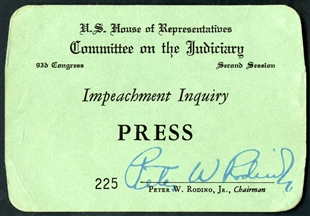 Impeachment Inquiry Press Pass