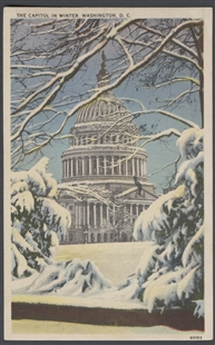 The Capitol in Winter, Washington, DC Postcard