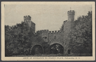 Arch at Entrance to Starin Place, Fultonville, N.Y. Postcard