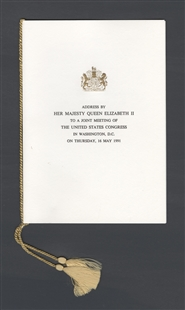 Address by Her Majesty Queen Elizabeth II to a Joint Meeting of the United States Congress