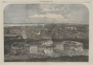 Birdseye View of the City of Washington, With the Capitol in the Foreground