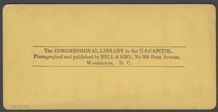 The Congressional Library in the U.S. Capitol Stereoview