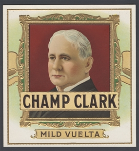 James Beauchamp (Champ) Clark Cigar Box Label