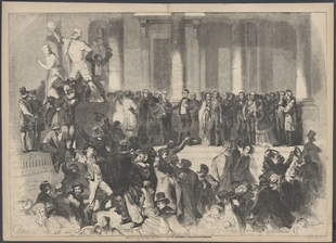 Assembling of the Multitude at the Eastern Portico, at the Commencement of the Inauguration Ceremonies
