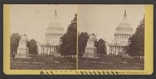Capitol, From Washington Statue, Washington, D.C. Stereoview