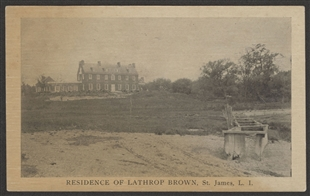 Residence of Lathrop Brown, St. James, L.I. Postcard