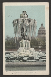 Frozen Fountain, Washington, D.C., Postcard