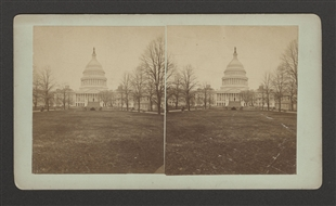 East Front of the Capitol Stereoview