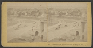 Looking South, from the Capitol, Washington, D.C. Stereoview