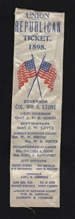 Union Republican Ticket Ribbon