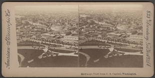 Bird's-eye View from U.S. Capitol, Washington Stereoview