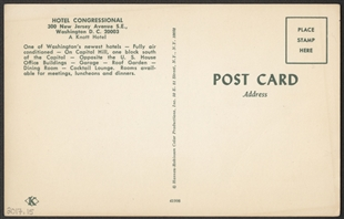 Hotel Congressional Postcard