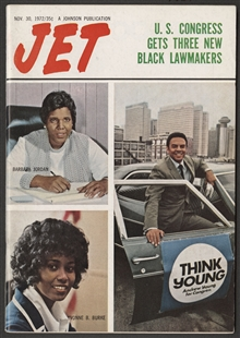Barbara Charline Jordan, Andrew Jackson Young Jr., and Yvonne Brathwaite Burke, Jet Magazine Cover