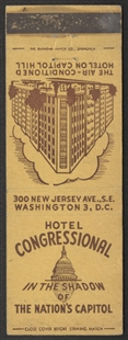 Hotel Congressional Matchbook
