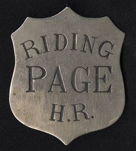 Riding Page H.R. Badge