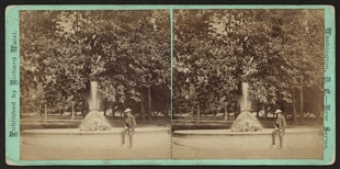 North Fountain, West Capitol Park Stereoview
