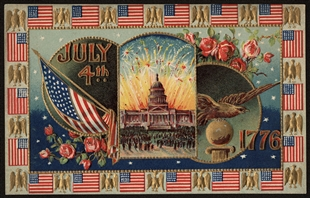 July 4th, 1776 Postcard