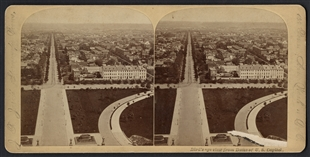 Bird's Eye View from Dome of U.S. Capitol Stereoview