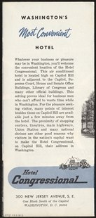 Hotel Congressional on Capitol Hill Brochure