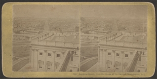 Looking North, from the Dome of the Capitol, Washington, D.C. Stereoview