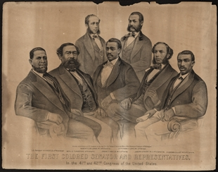 The First Colored Senator and Representatives, In the 41st and 42nd Congress of the United States