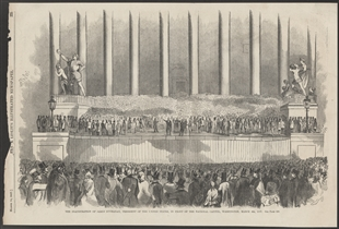 The Inauguration of James Buchanan, President of the United States, In Front of the National Capitol, Washington, March 4th, 1857